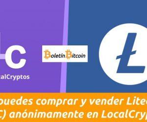 comprar y vender litecoin anónimamente en localcryptos
