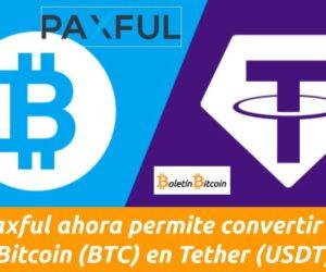 convertir bitcoin en tether