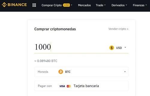 comprar bitcoin en argentina con tarjeta en Binance