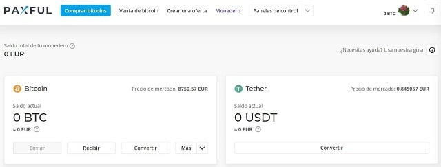 cambiar bitcoin a tether en paxful