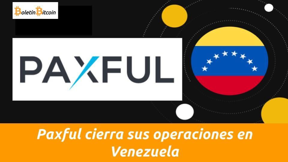 paxful cierra en venezuela