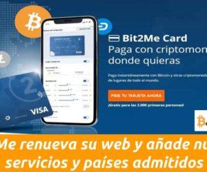 Bit2Me renueva su web y añade nuevas funcionalidades