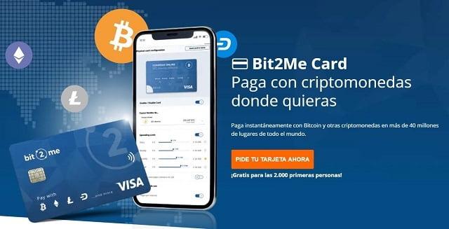 tarjeta de crédito bit2me