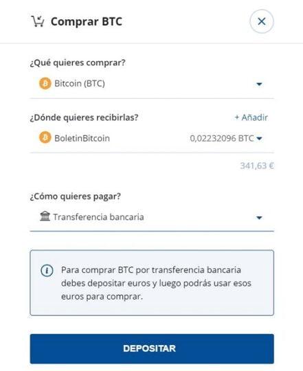 comprar btc nueva web bit2me transferencia
