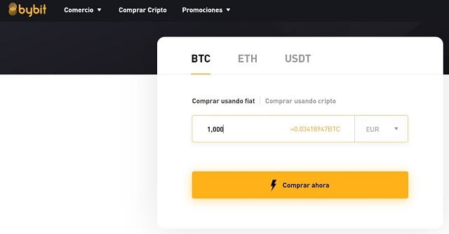 comprar bitcoin en bybit usando euros