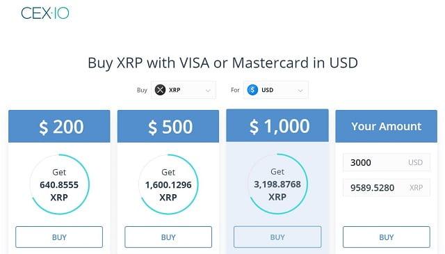como comprar xrp con tarjeta de crédito en CEX.io desde Uruguay