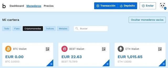 como depositar euros en bitpanda