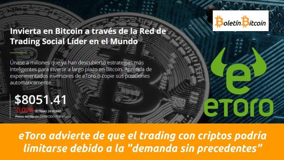 etoro advierte de la escasez de bitcoin debido a la fuerte demanda