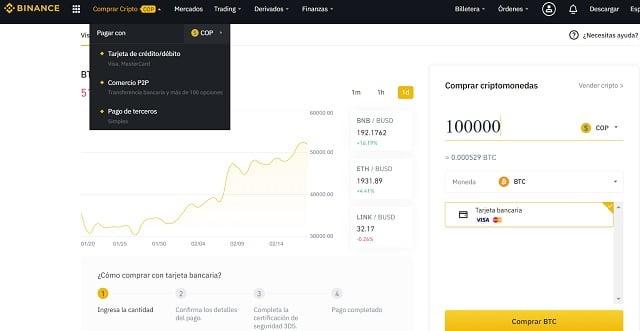 comprar chainlink en binance con dólares en colombia