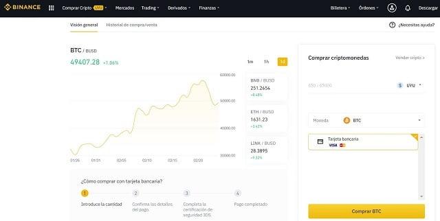 comprar cardano en uruguay con pesos en binance