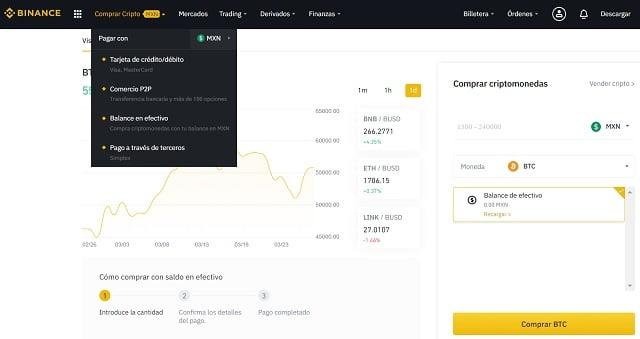 comprar bitcoin con pesos mexicanos en binance