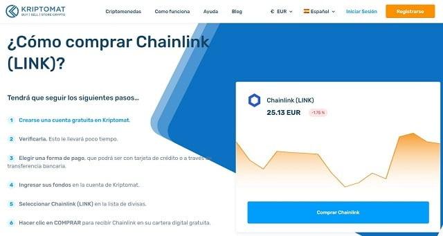 como comprar chainlink en brasil con Kriptomat