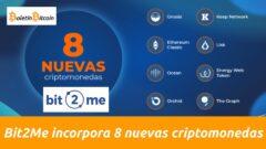 8 nuevas criptomonedas en bit2me