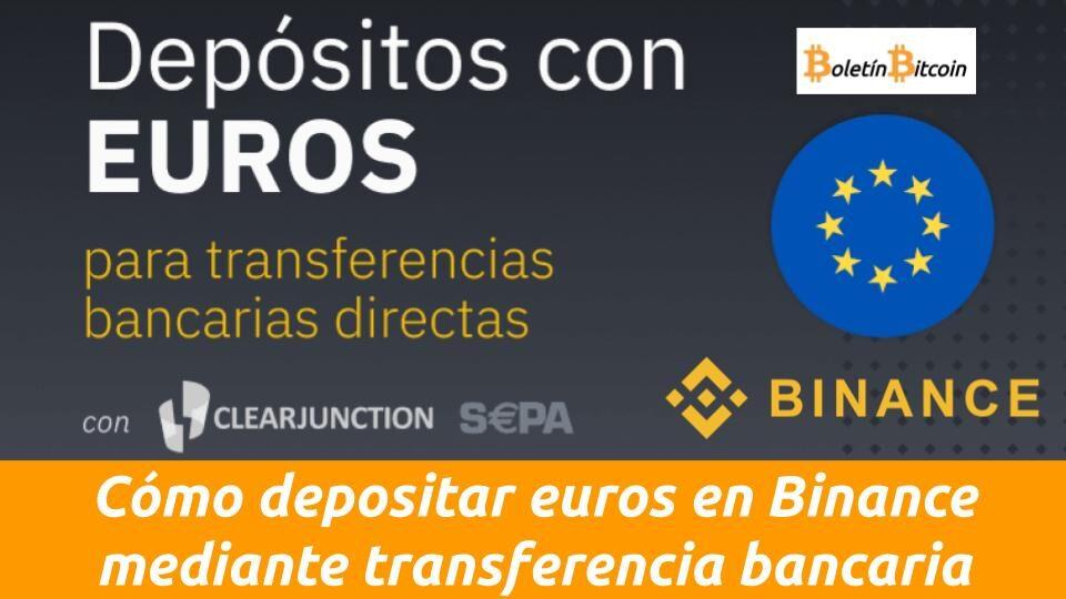 como depositar fondos en binance mediante transferencia